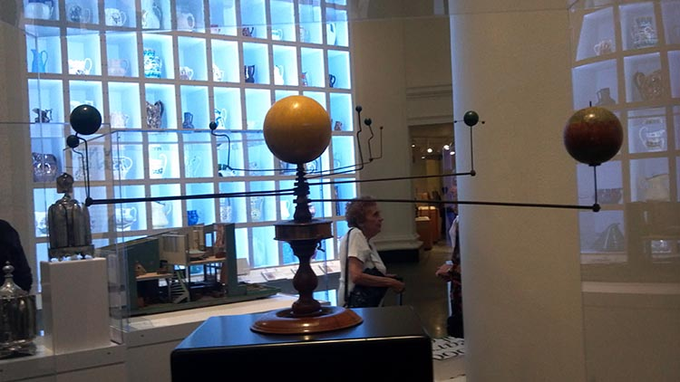 I found an orrery at the Brooklyn Museum