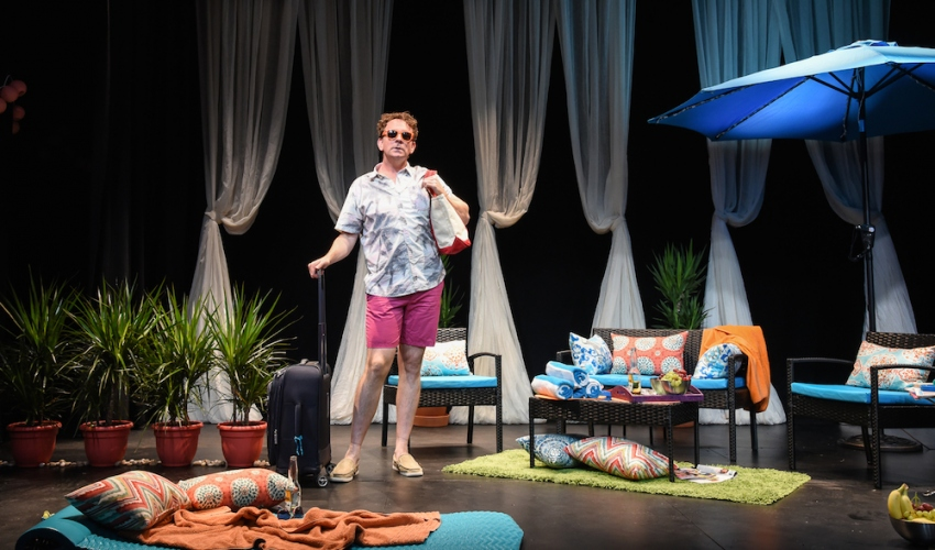 BRIGHT COLORS AND BOLD PATTENS now at Soho Playhouse