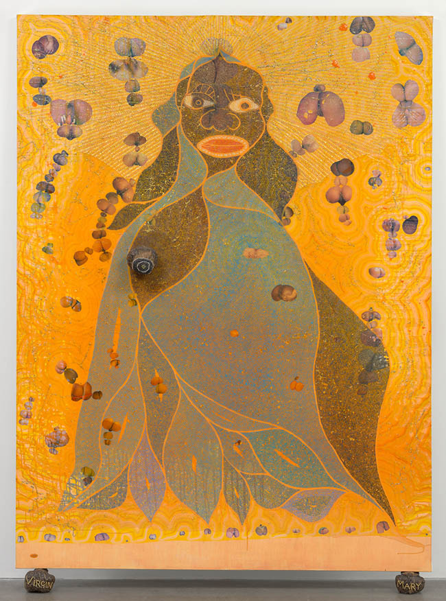 Chris Ofili's THE HOLY VIRGIN MARY at the MOMA